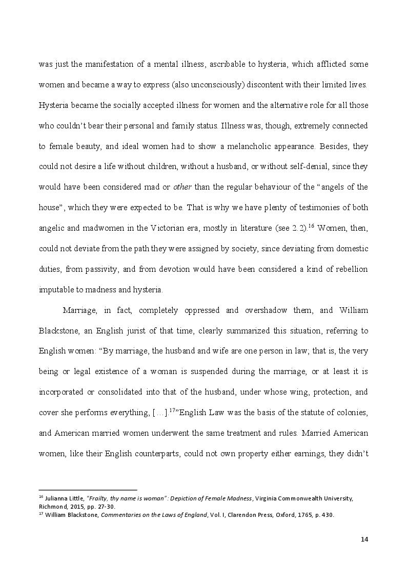 Anteprima della tesi: Self-Made Women - Catharine Maria Sedgwick and Fanny Fern, masters of women's independence, Pagina 4