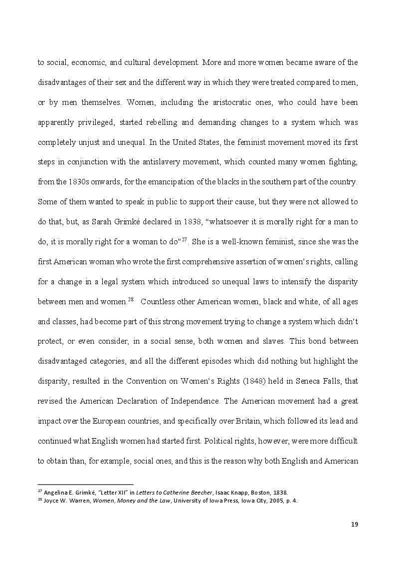 Anteprima della tesi: Self-Made Women - Catharine Maria Sedgwick and Fanny Fern, masters of women's independence, Pagina 9