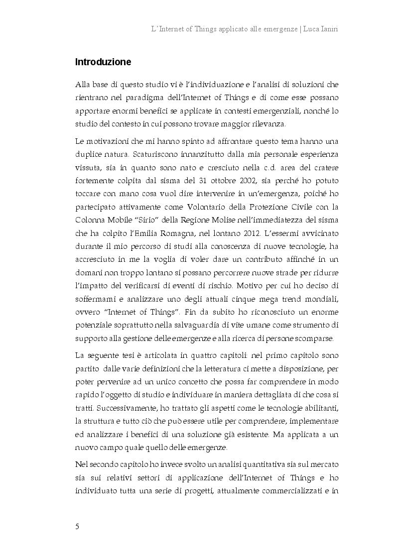 Anteprima della tesi: L'Internet of Things applicato alle emergenze, Pagina 2