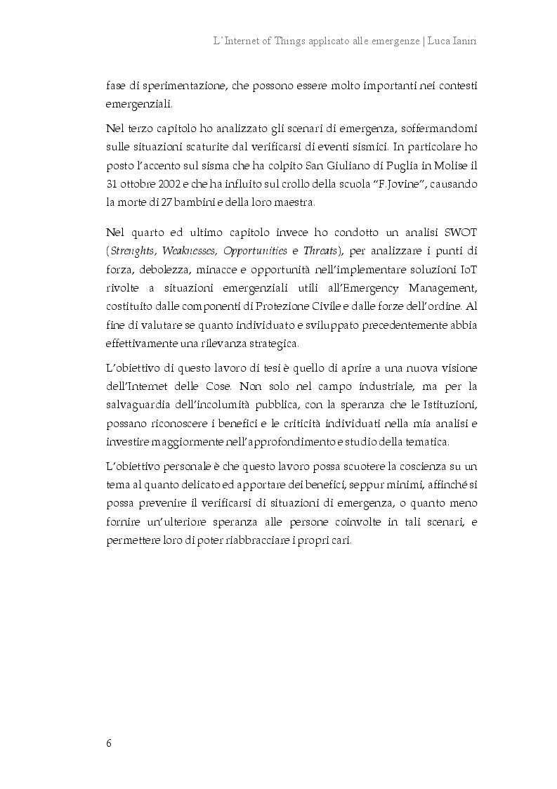 Anteprima della tesi: L'Internet of Things applicato alle emergenze, Pagina 3