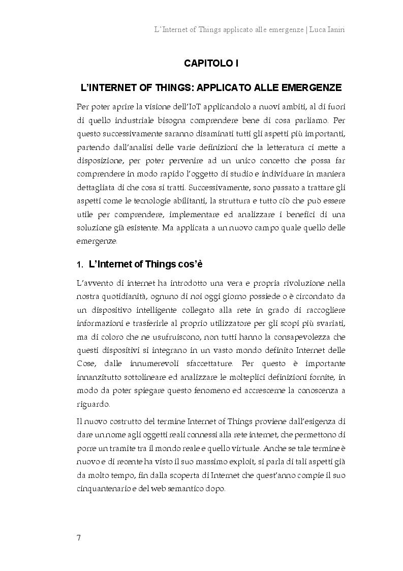 Anteprima della tesi: L'Internet of Things applicato alle emergenze, Pagina 4