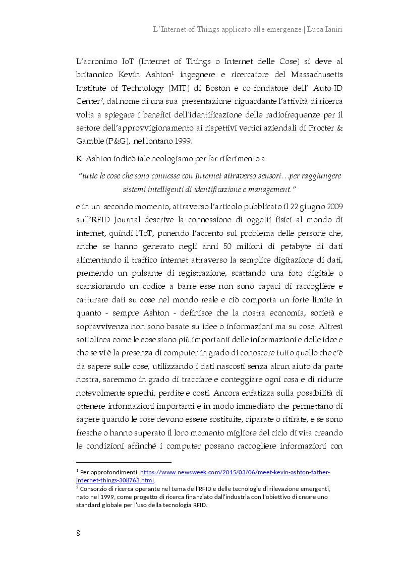 Anteprima della tesi: L'Internet of Things applicato alle emergenze, Pagina 5