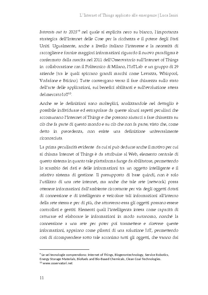 Anteprima della tesi: L'Internet of Things applicato alle emergenze, Pagina 8
