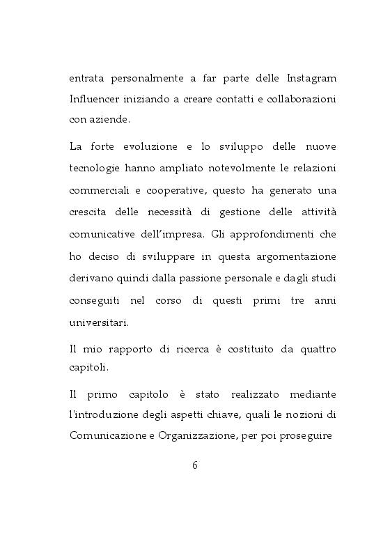 Anteprima della tesi: Da osservatrice ad influencer: Esperienza sulla Comunicazione d'Impresa su Instagram, Pagina 3