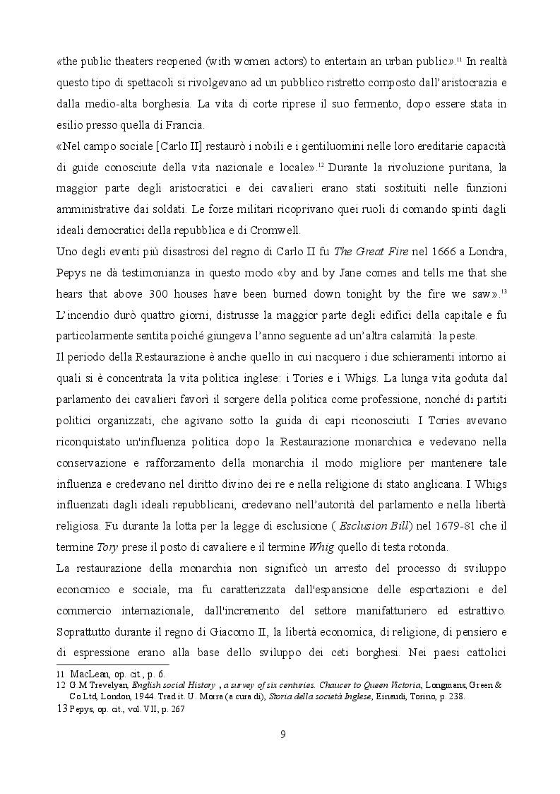 Anteprima della tesi: Le riscritture di Shakespeare durante la Restaurazione inglese: Macbeth, The Tempest, King Lear., Pagina 7