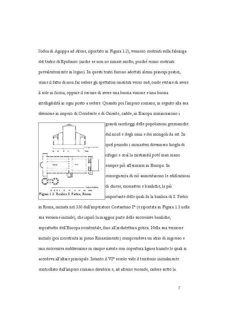 Anteprima della tesi: Analisi acustica e caratterizzazione sperimentale di un ambiente confinato: teatro parrocchiale S. Chiara in Roma, Pagina 4
