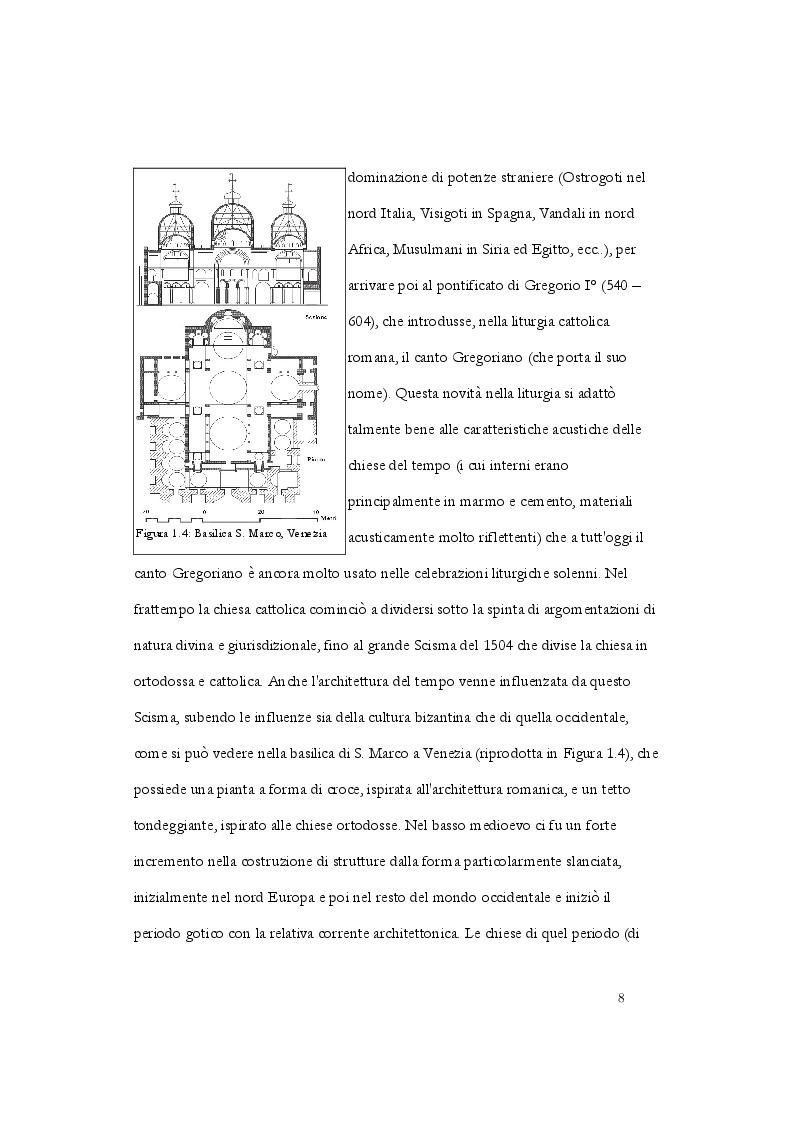Anteprima della tesi: Analisi acustica e caratterizzazione sperimentale di un ambiente confinato: teatro parrocchiale S. Chiara in Roma, Pagina 5