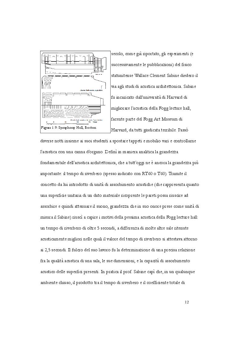 Anteprima della tesi: Analisi acustica e caratterizzazione sperimentale di un ambiente confinato: teatro parrocchiale S. Chiara in Roma, Pagina 9
