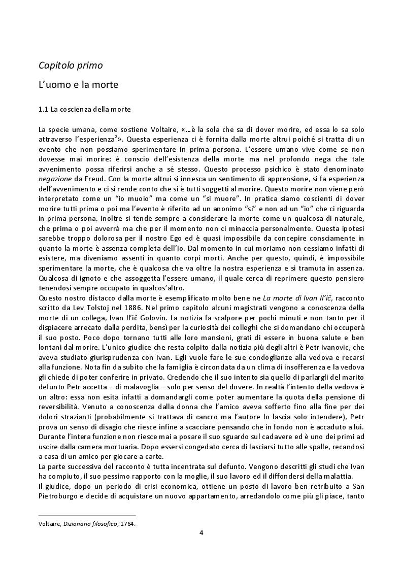 Anteprima della tesi: Fenomenologia della morte, tanatofobia e necrofilia nella società contemporanea, Pagina 2
