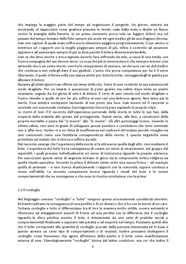 Anteprima della tesi: Fenomenologia della morte, tanatofobia e necrofilia nella società contemporanea, Pagina 3
