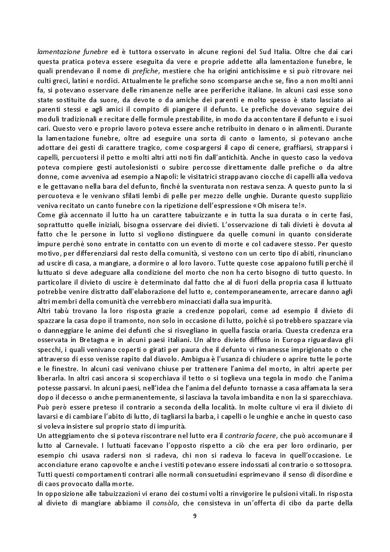 Anteprima della tesi: Fenomenologia della morte, tanatofobia e necrofilia nella società contemporanea, Pagina 7
