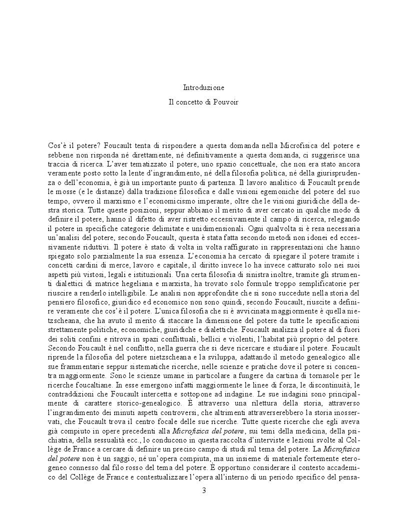 Anteprima della tesi: Il concetto di ''Pouvoir'' nella Microfisica del Potere di Michel Foucault, Pagina 2