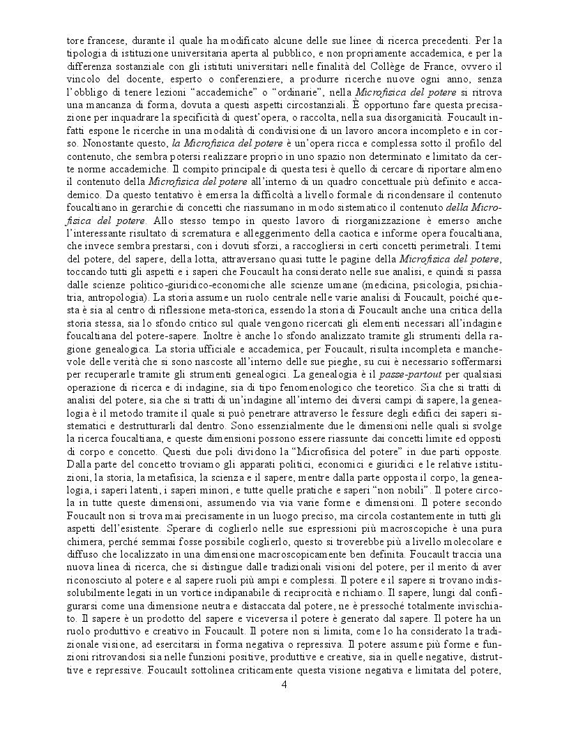 Anteprima della tesi: Il concetto di ''Pouvoir'' nella Microfisica del Potere di Michel Foucault, Pagina 3