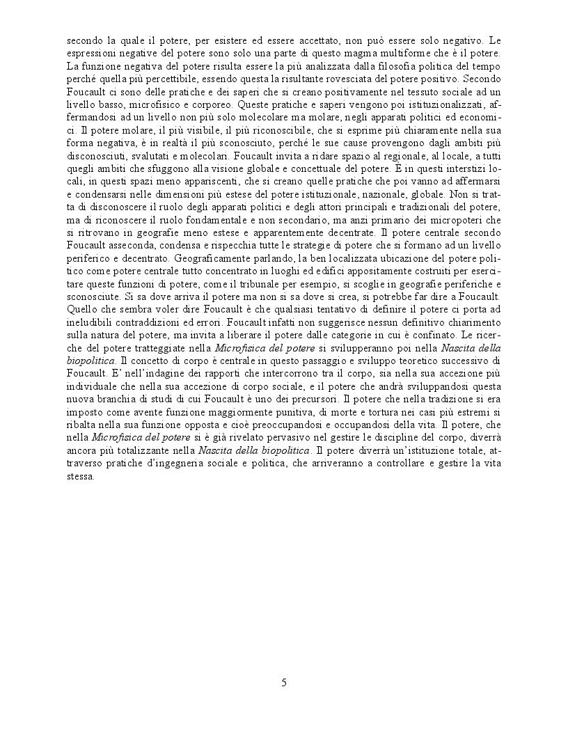 Anteprima della tesi: Il concetto di ''Pouvoir'' nella Microfisica del Potere di Michel Foucault, Pagina 4