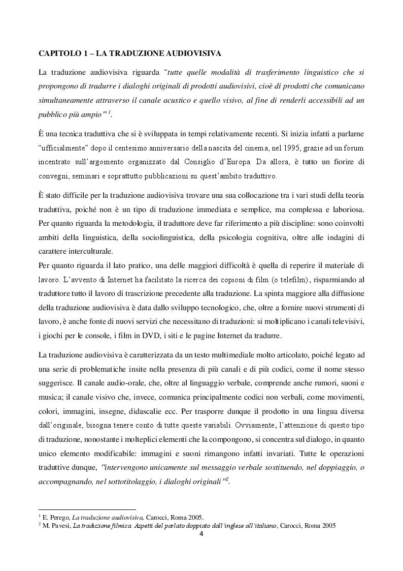 Anteprima della tesi: L'arte invisibile del traduttore: doppiaggio e sottotitolaggio, Pagina 2