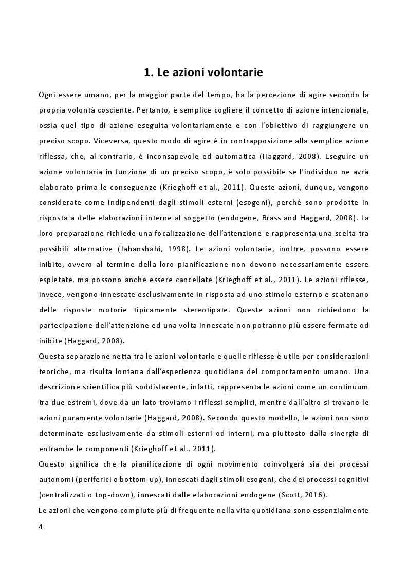 Anteprima della tesi: L'importanza delle emozioni nella genesi delle azioni: uno studio di risonanza magnetica funzionale, Pagina 2