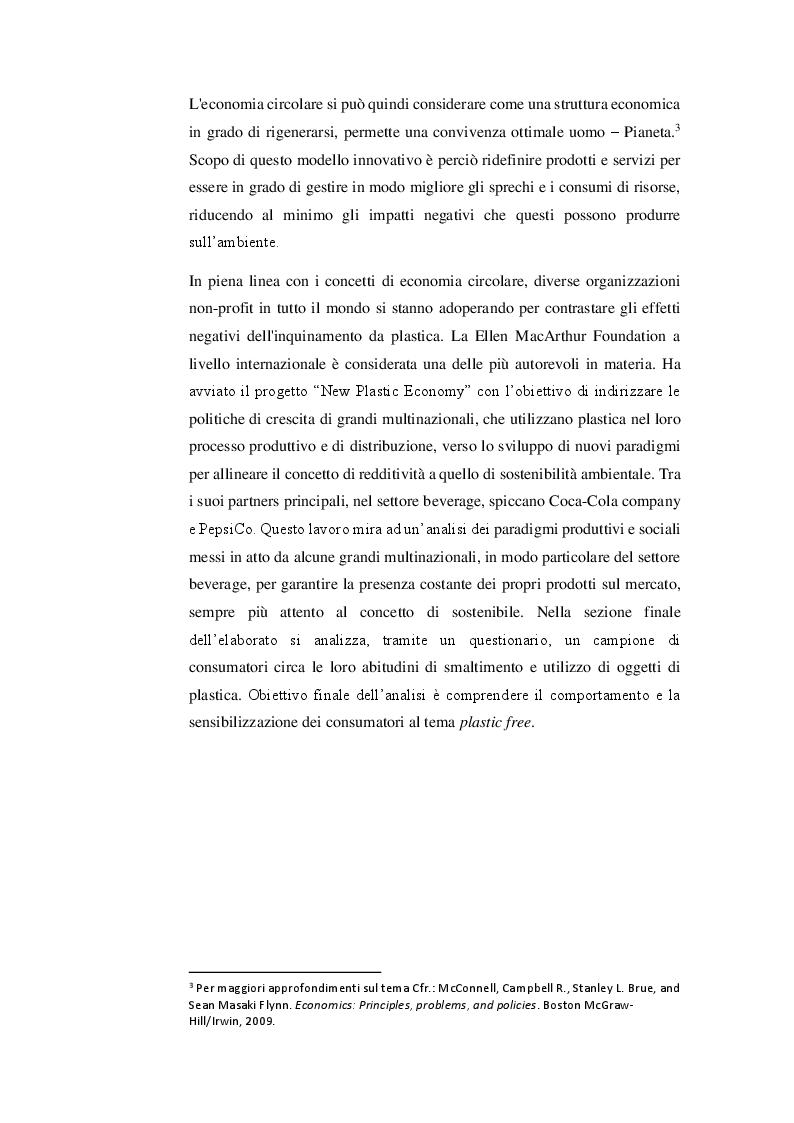 Anteprima della tesi: Nuovi paradigmi per la sostenibilità: New Plastic Economy, Pagina 3