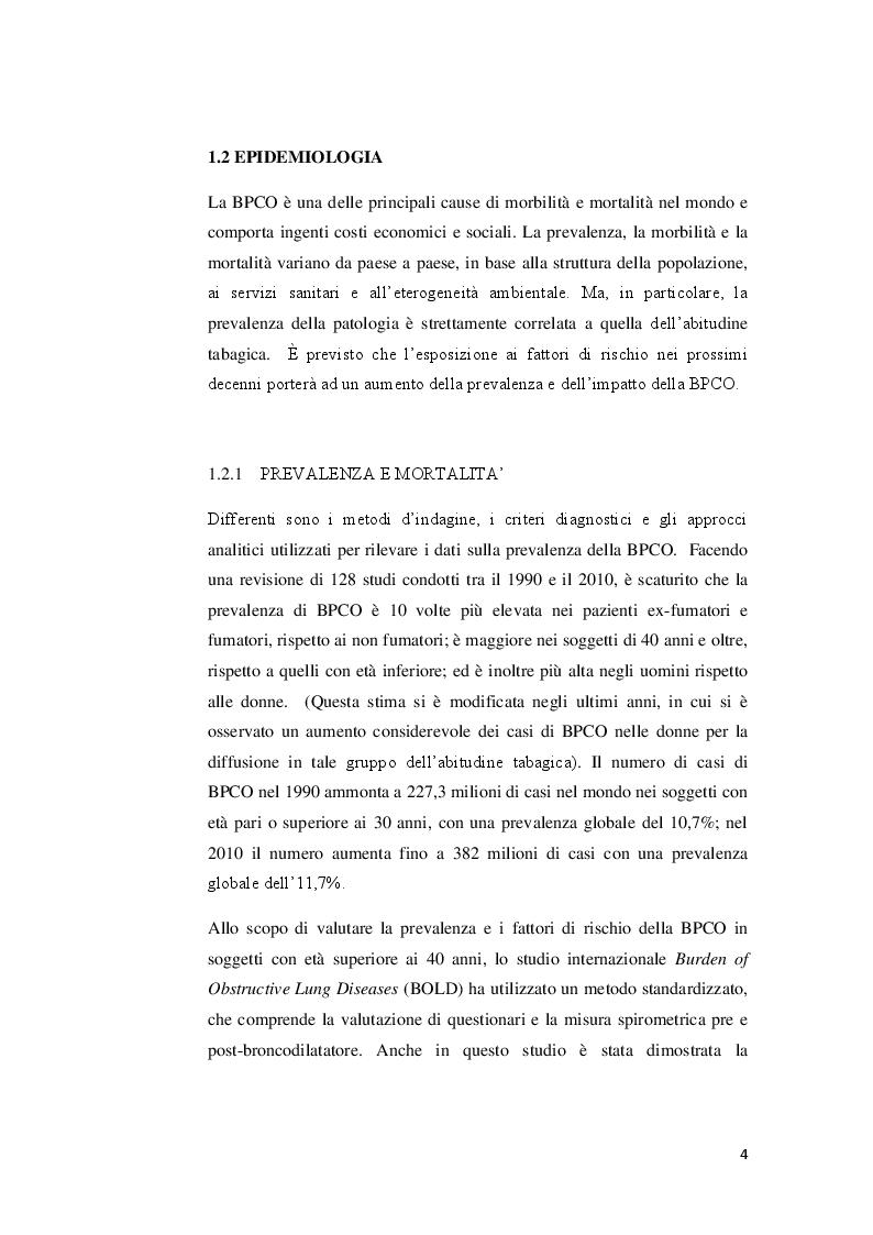 Anteprima della tesi: Strategie riabilitative nel trattamento del paziente con BPCO, Pagina 3