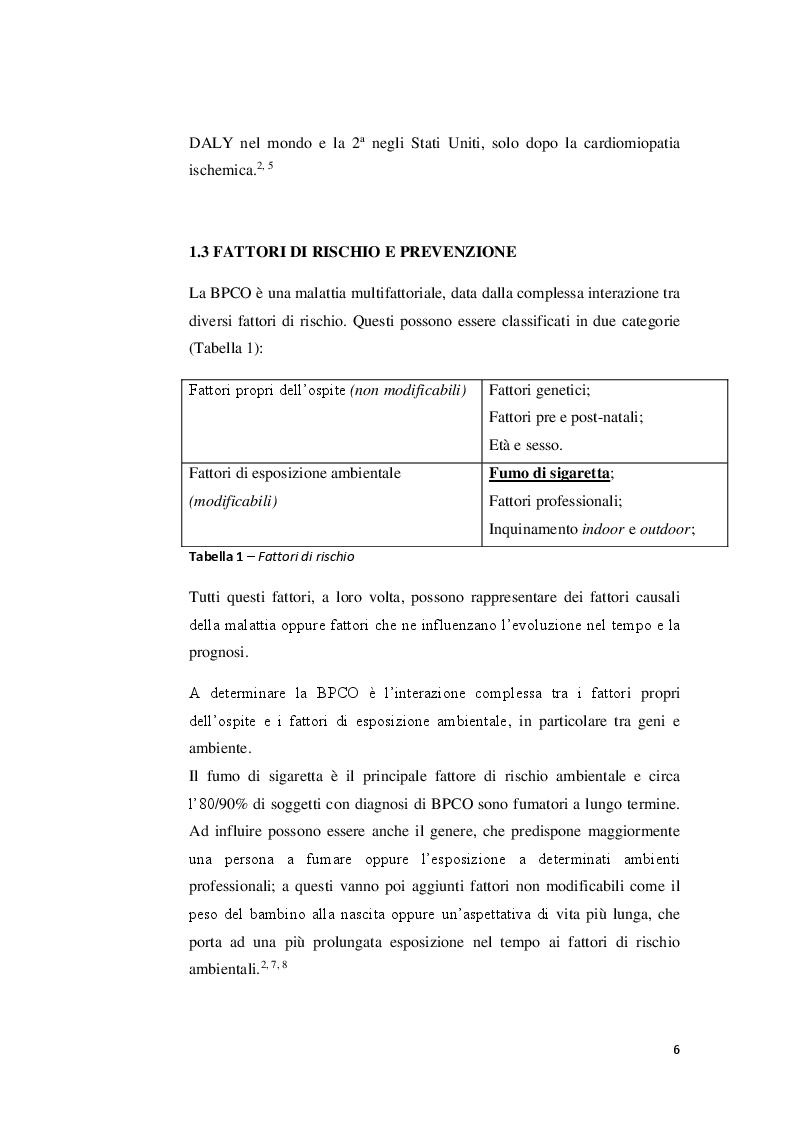 Anteprima della tesi: Strategie riabilitative nel trattamento del paziente con BPCO, Pagina 5