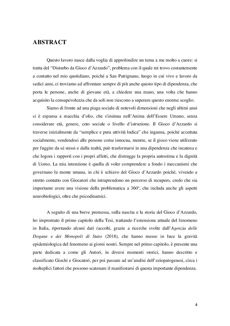 Anteprima della tesi: Disturbo da Gioco d'azzardo dall'Adolescenza all'età Adulta, Pagina 2
