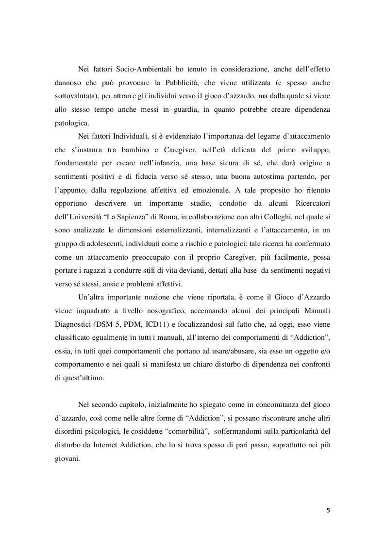 Anteprima della tesi: Disturbo da Gioco d'azzardo dall'Adolescenza all'età Adulta, Pagina 3