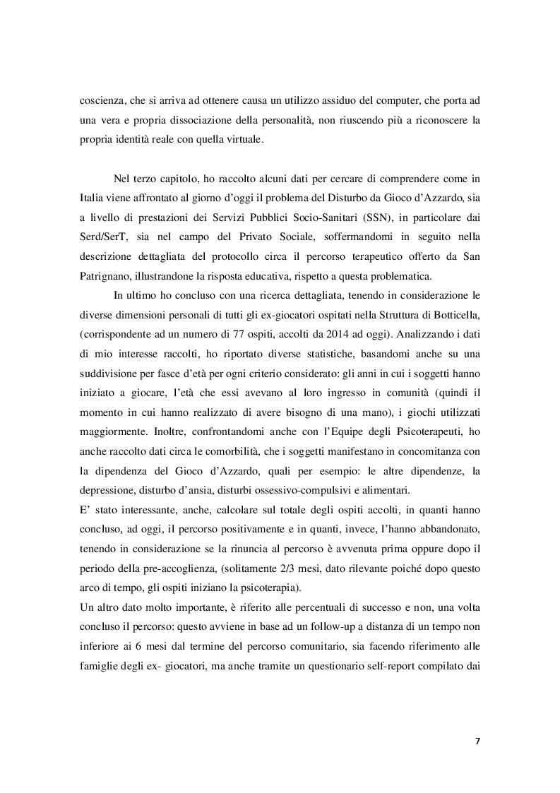 Anteprima della tesi: Disturbo da Gioco d'azzardo dall'Adolescenza all'età Adulta, Pagina 5