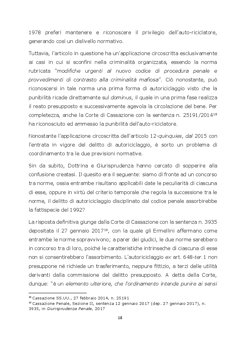 Estratto dalla tesi: Autoriciclaggio e art. 25-octies D.lgs. 231/2001: come varia il principio di legalità