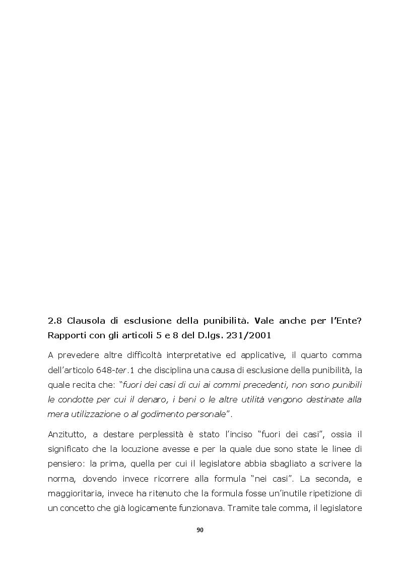 Anteprima della tesi: Autoriciclaggio e art. 25-octies D.lgs. 231/2001: come varia il principio di legalità, Pagina 2