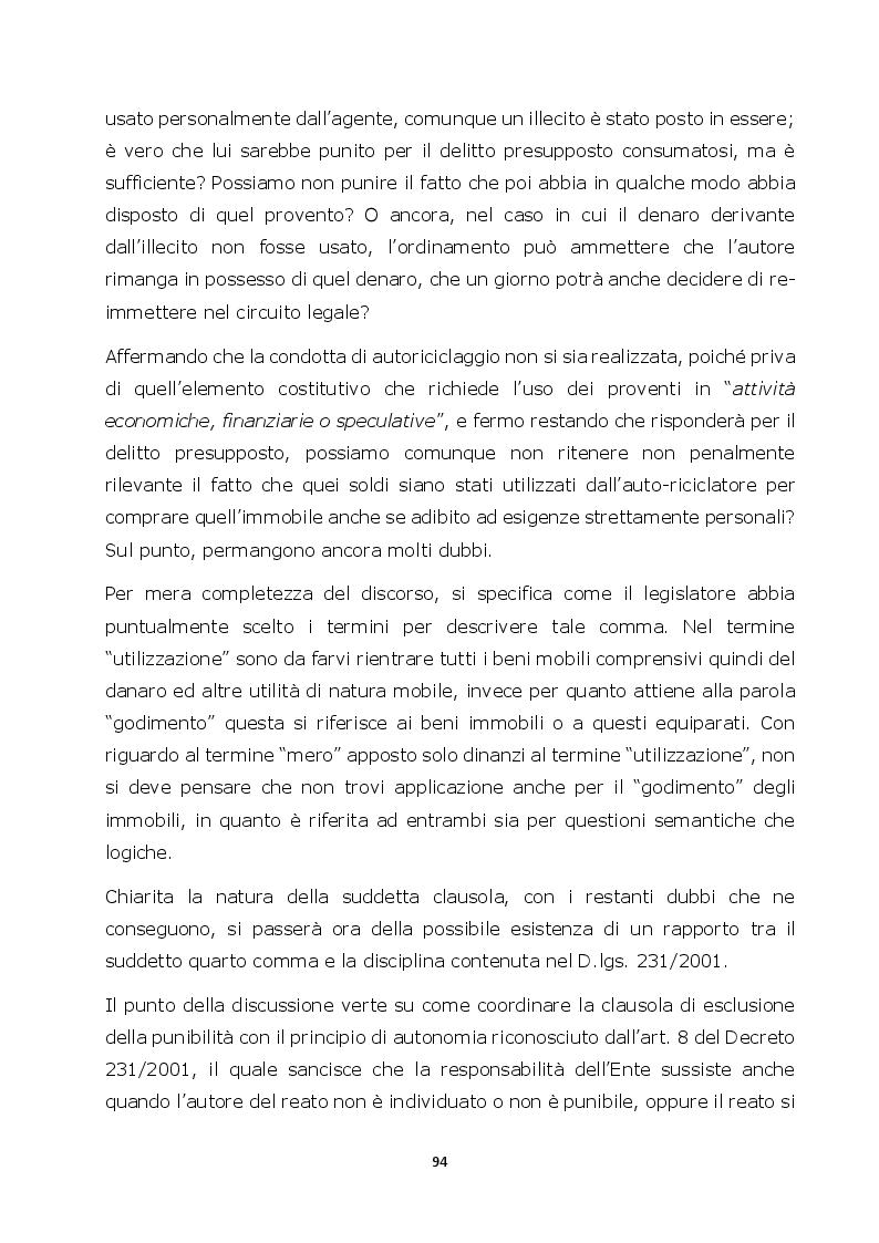Anteprima della tesi: Autoriciclaggio e art. 25-octies D.lgs. 231/2001: come varia il principio di legalità, Pagina 6