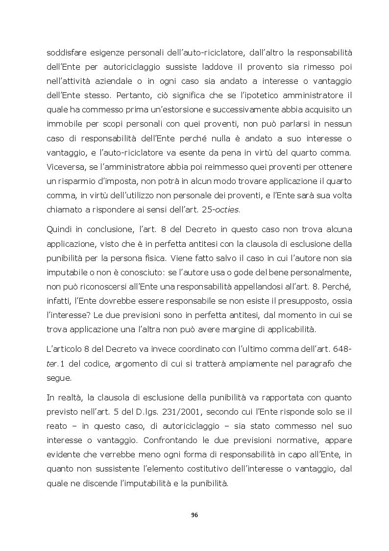 Anteprima della tesi: Autoriciclaggio e art. 25-octies D.lgs. 231/2001: come varia il principio di legalità, Pagina 8