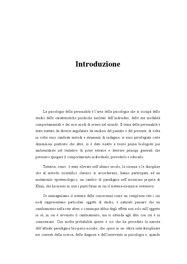 Anteprima della tesi: I Meccanismi di Difesa nella diagnosi psicologica attuale, Pagina 2