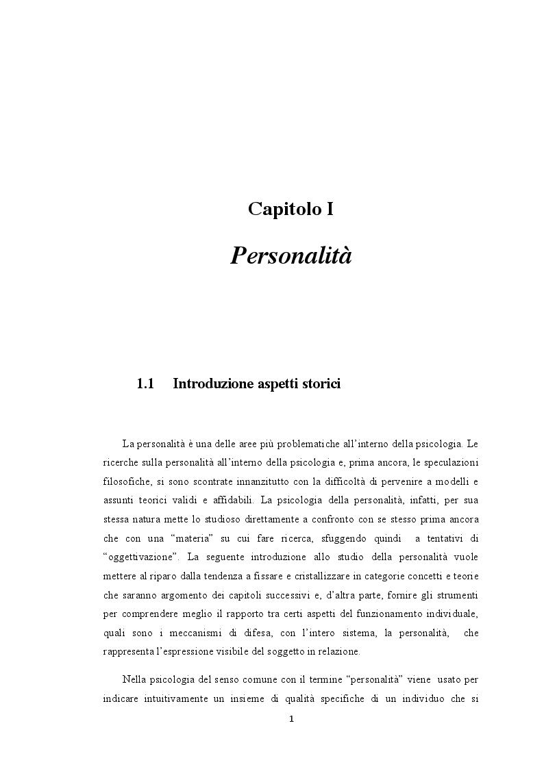 Anteprima della tesi: I Meccanismi di Difesa nella diagnosi psicologica attuale, Pagina 6