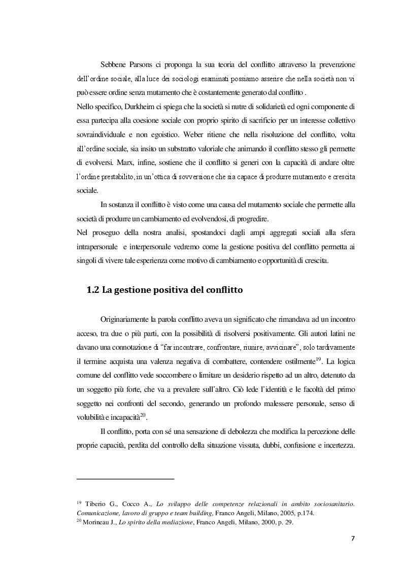 Anteprima della tesi: La Mediazione nei conflitti familiari, Pagina 8