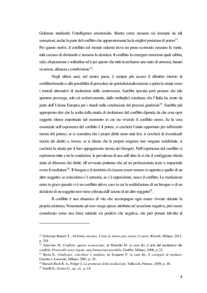Anteprima della tesi: La Mediazione nei conflitti familiari, Pagina 9