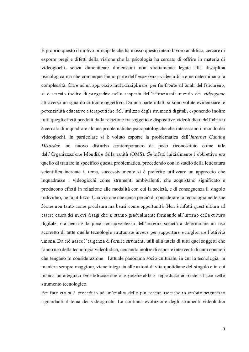 Anteprima della tesi: Verso l'interrealtà: dinamiche psicologiche e derive psicopatologiche dei giochi online, Pagina 4