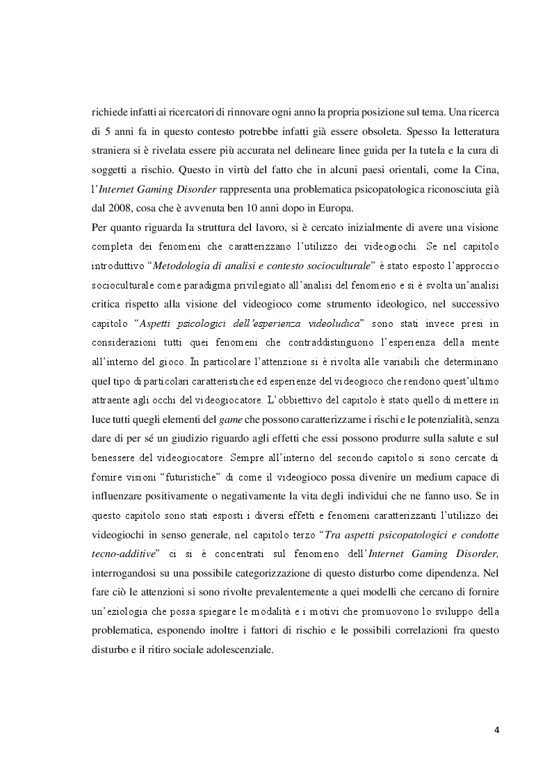 Anteprima della tesi: Verso l'interrealtà: dinamiche psicologiche e derive psicopatologiche dei giochi online, Pagina 5