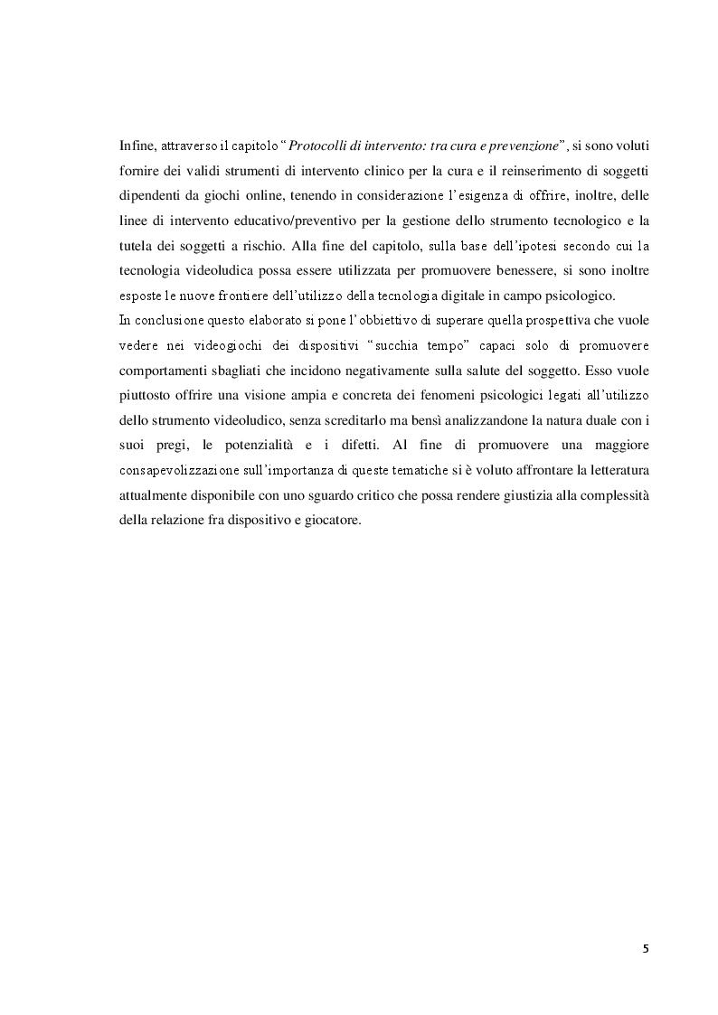 Anteprima della tesi: Verso l'interrealtà: dinamiche psicologiche e derive psicopatologiche dei giochi online, Pagina 6