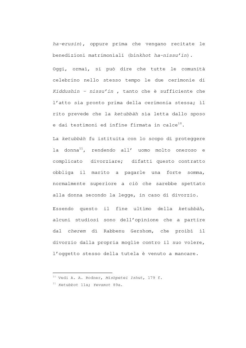 Anteprima della tesi: Il matrimonio nel diritto ebraico, Pagina 12