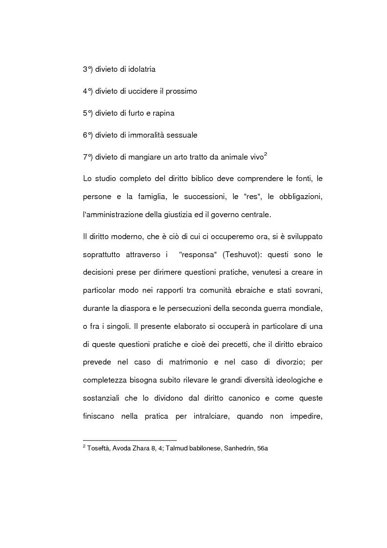 Anteprima della tesi: Il matrimonio nel diritto ebraico, Pagina 4