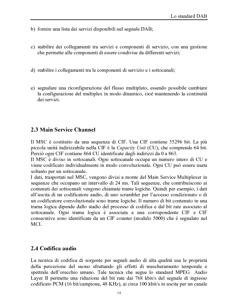 Anteprima della tesi: Sistemi DAB/DVB-T, Pagina 10