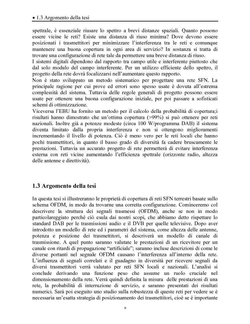 Anteprima della tesi: Sistemi DAB/DVB-T, Pagina 5