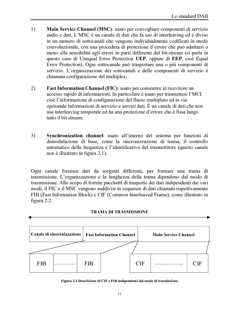 Anteprima della tesi: Sistemi DAB/DVB-T, Pagina 8