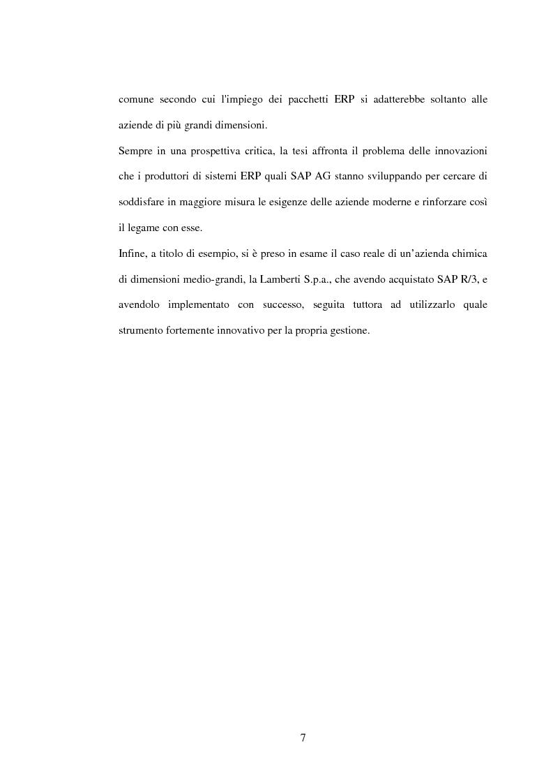 Anteprima della tesi: I sistemi gestionali integrati, con particolare riferimento a SAP R/3, Pagina 3