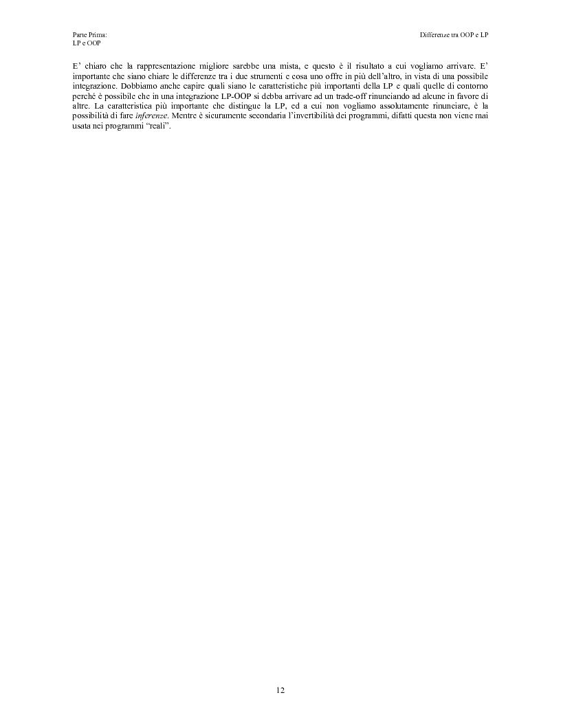 Anteprima della tesi: Elaborazione e interazione in programmazione logica e ad oggetti, Pagina 10