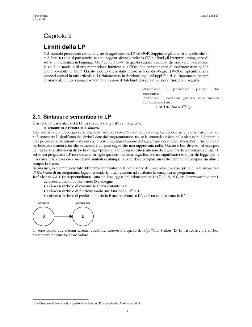 Anteprima della tesi: Elaborazione e interazione in programmazione logica e ad oggetti, Pagina 11