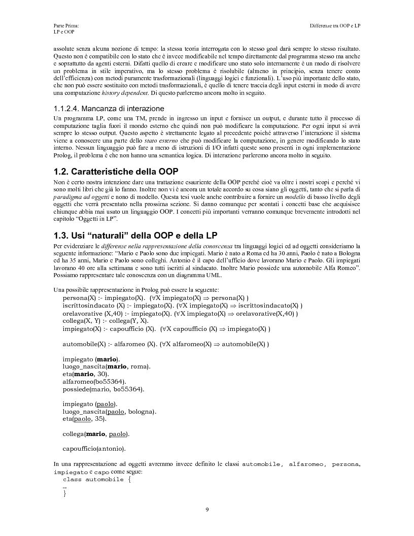 Anteprima della tesi: Elaborazione e interazione in programmazione logica e ad oggetti, Pagina 7