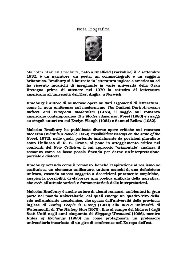 """Anteprima della tesi: Critica ed espansione ipertestuale di """"The History Man"""" di Malcolm Bradbury, Pagina 2"""