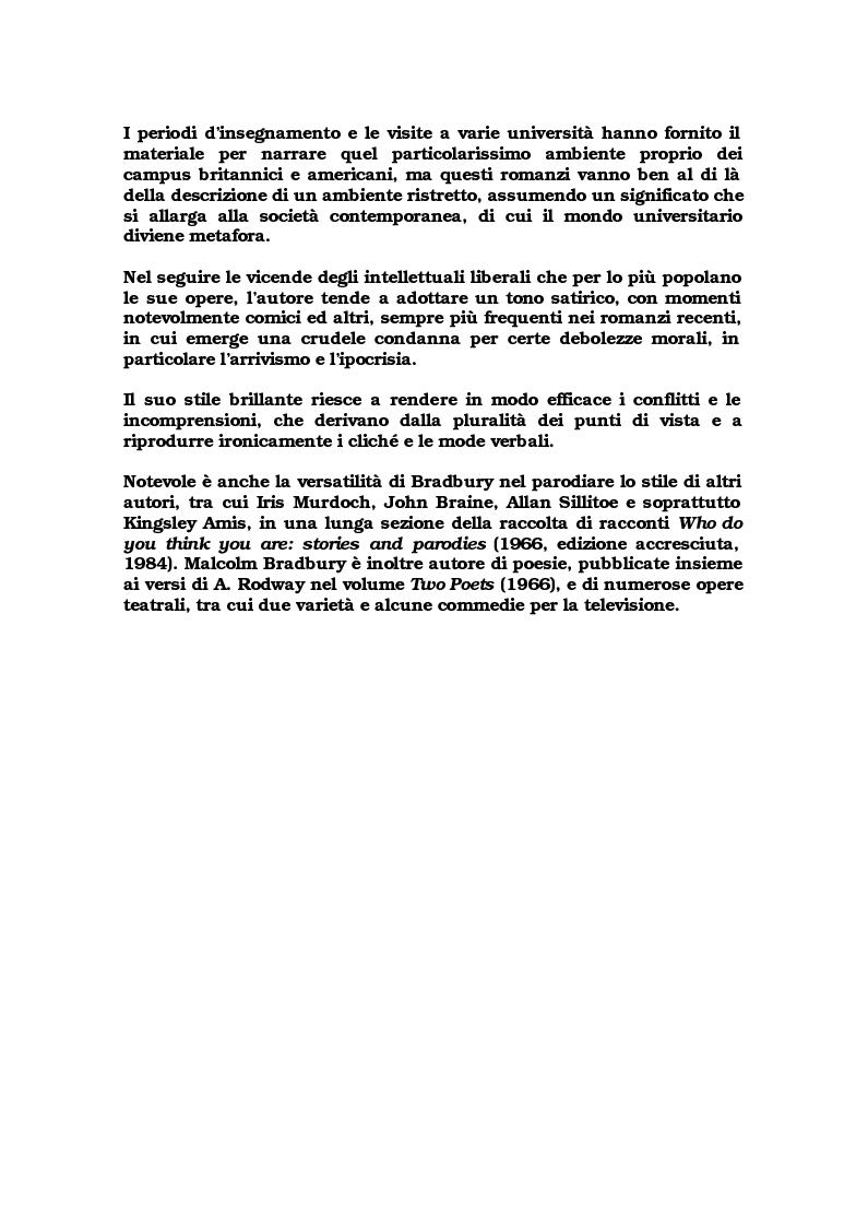 """Anteprima della tesi: Critica ed espansione ipertestuale di """"The History Man"""" di Malcolm Bradbury, Pagina 3"""