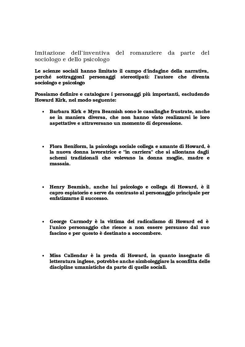 """Anteprima della tesi: Critica ed espansione ipertestuale di """"The History Man"""" di Malcolm Bradbury, Pagina 5"""