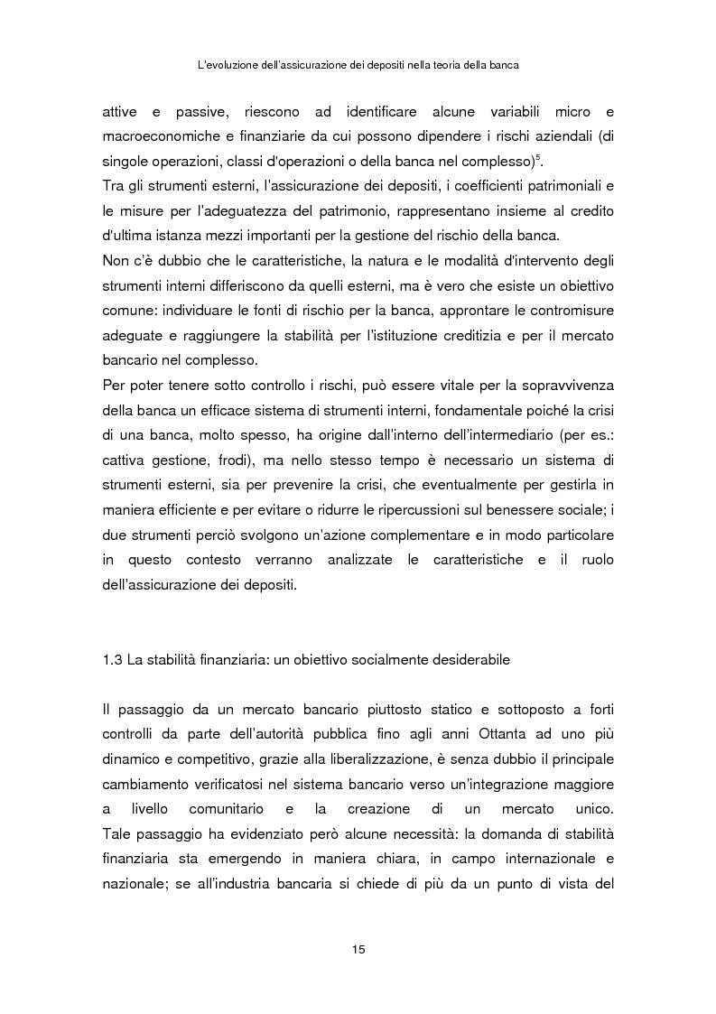 Anteprima della tesi: La determinazione del premio dell'assicurazione dei depositi attraverso l'option pricing: un'applicazione al caso italiano, Pagina 11
